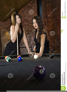 Billiard Women Clipart.
