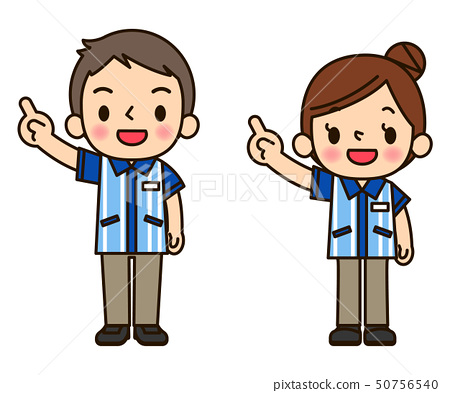 Men and women pointing at a convenience store.