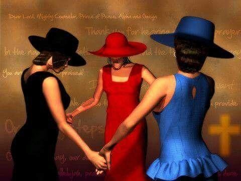 Black Art of Sisters Praying CodeBlack Art.