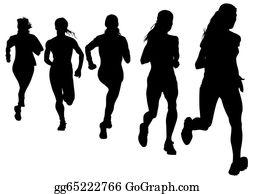 Woman Running Clip Art.