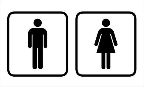 Bathroom Signs Clipart.