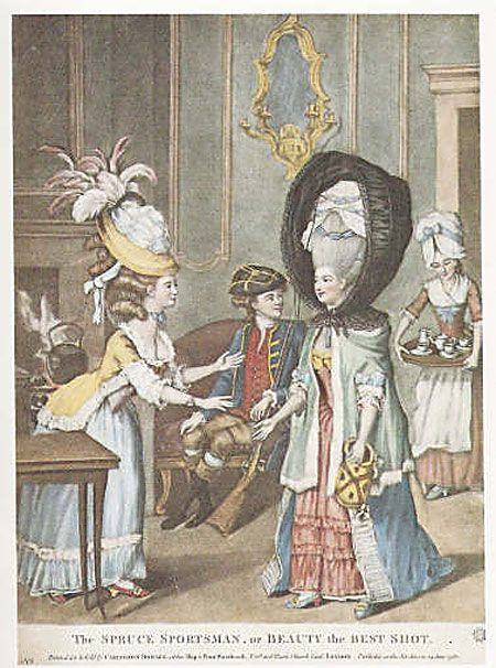 In the 1770\'s, (when huge wigs and hairstyles were.