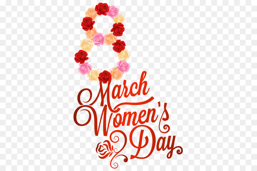 8 March Womens Day clipart.