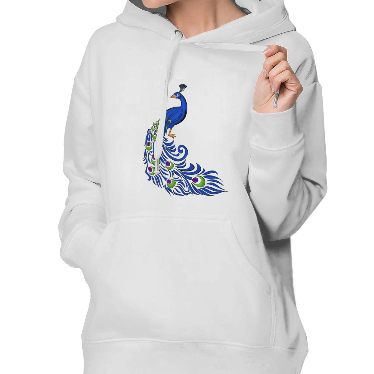 Amazon.com: Binfldg Peacock Clipart Fashion Women\'s Pullover.