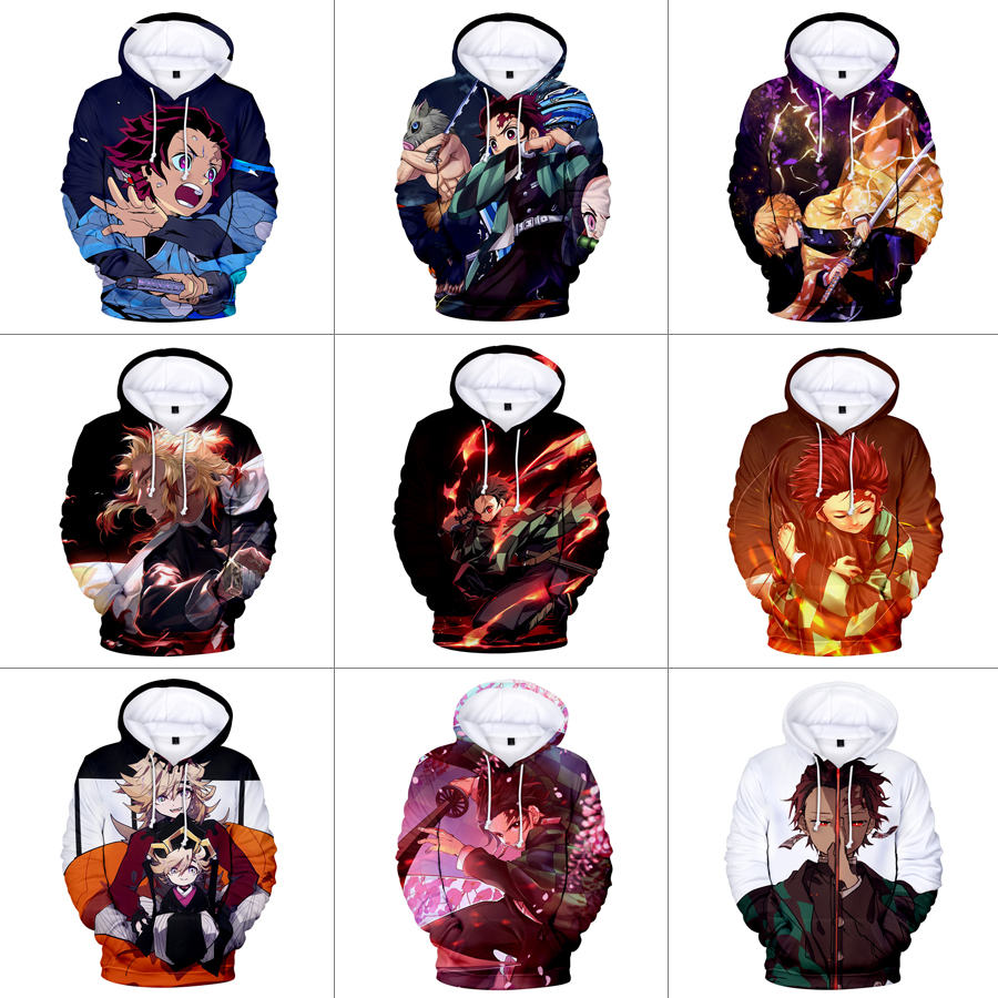 Details about Demon Slayer: Kimetsu no Yaiba Pullover Men\'s Women\'s Hoodie  Sweatshirt Cosplay.