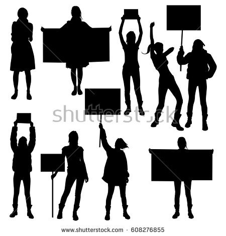 Human Rights Silhouette.