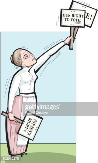 Woman\'s suffrage or right to vote Clipart Image.