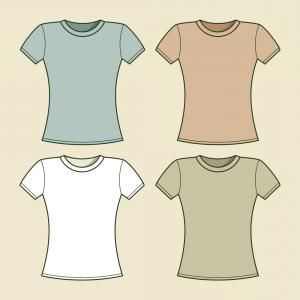 Stock Illustration Blank Women S T Shirt Singlet Vector.