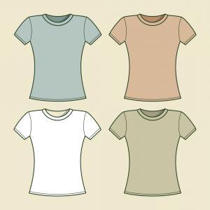 Stock Illustration Blank Women S T Shirt Singlet Vector.
