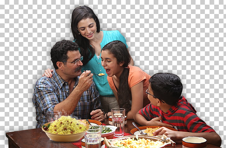 Lunch Dish Eating Supper Brunch, Indian family PNG clipart.