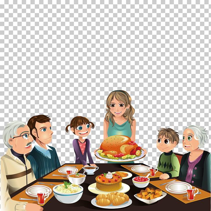 Thanksgiving Dinner Turkey , Eat a family, family eating.
