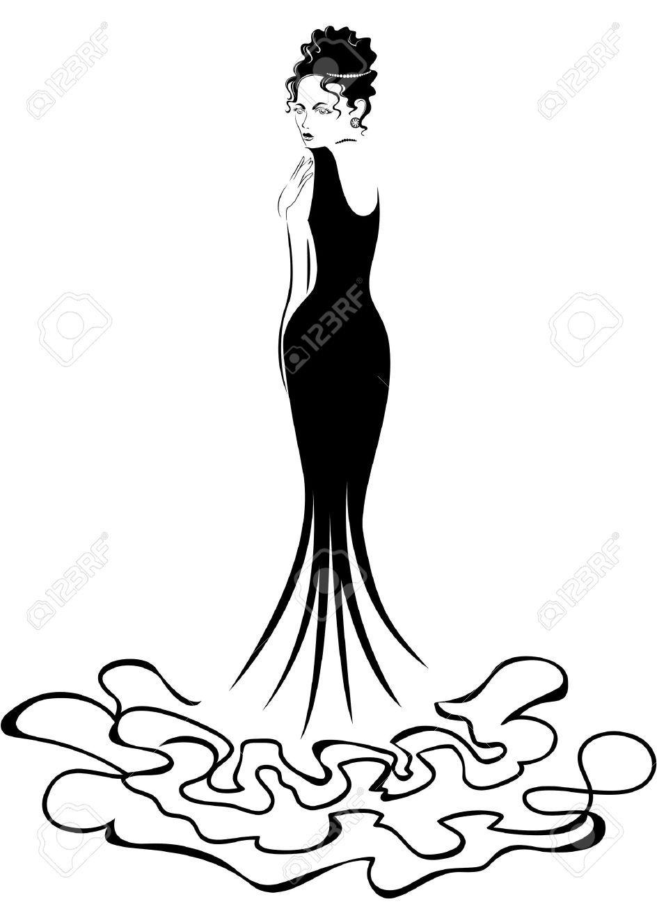 woman elegant silhouette.