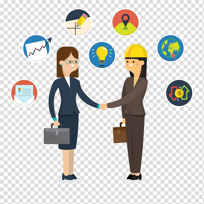 Two business woman shaking hand , Handshaking Handshake Icon.
