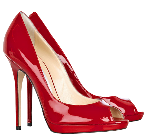 Red Female Heels PNG Clipart.