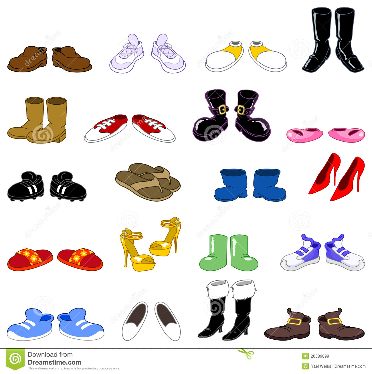 Shoes Stock Illustrations.