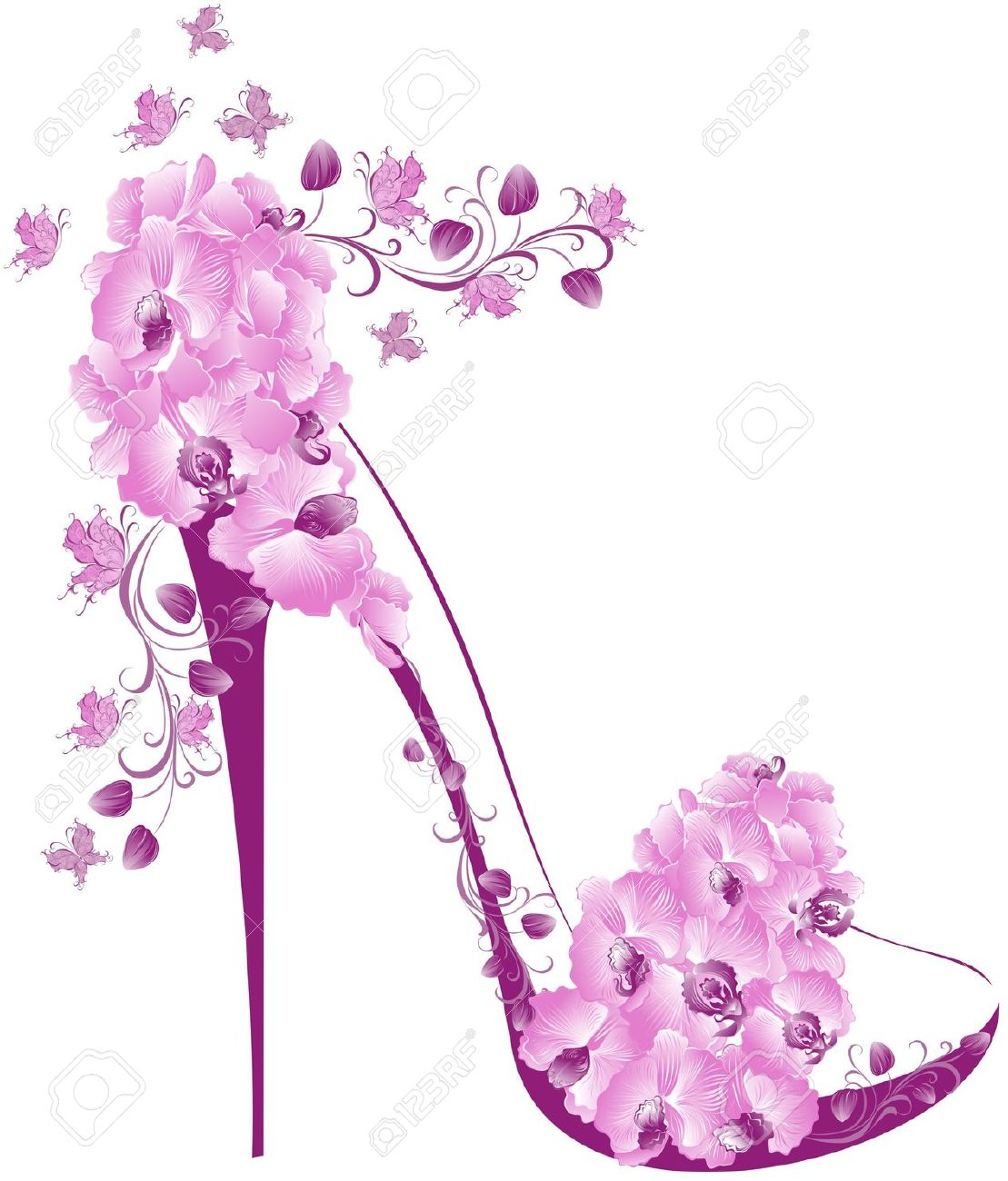 Pink High Heel Shoes Clipart images.