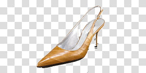 Fashion shoes icons , , unpaired women\'s brown heel.
