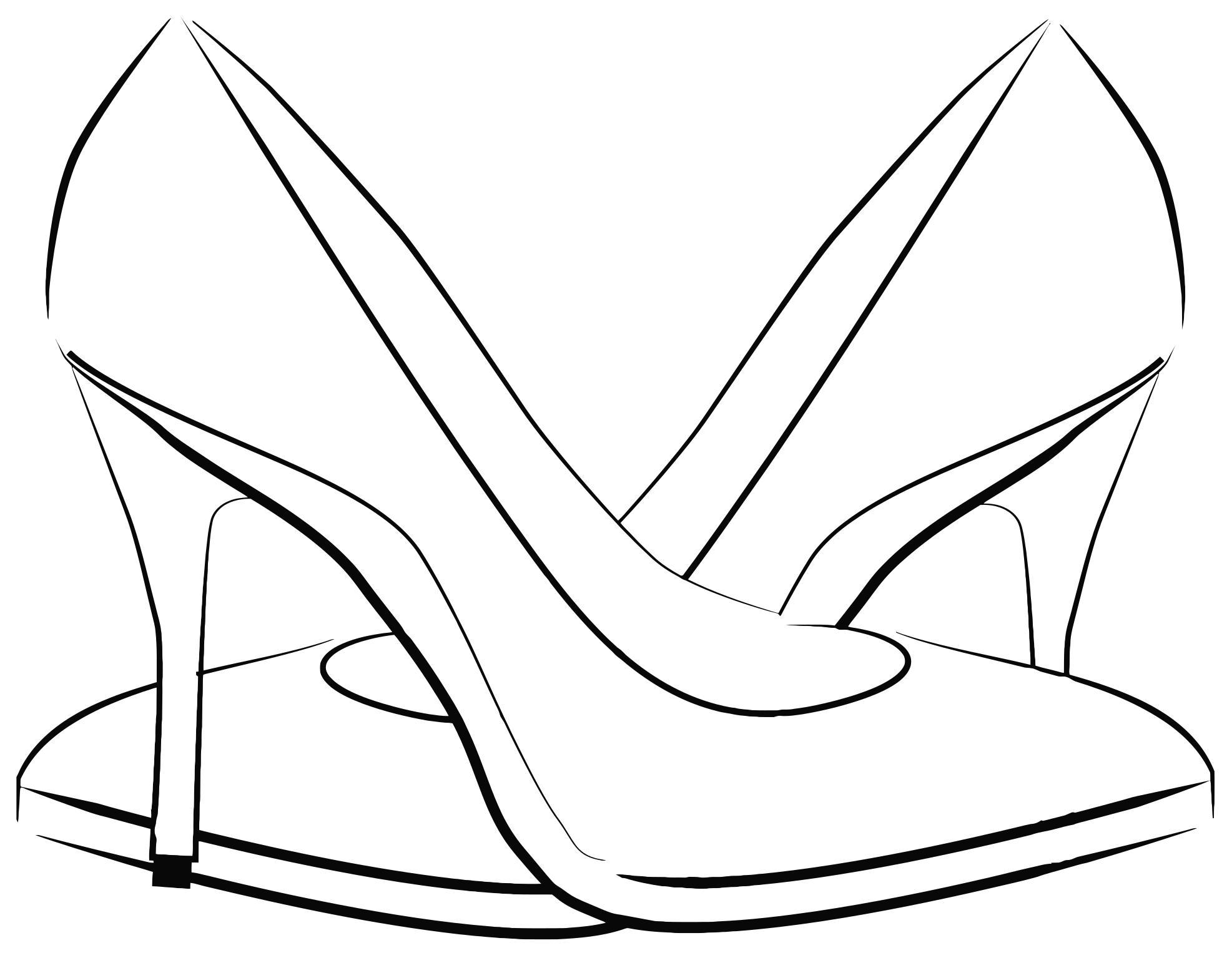 101+ Women Shoes Clipart.