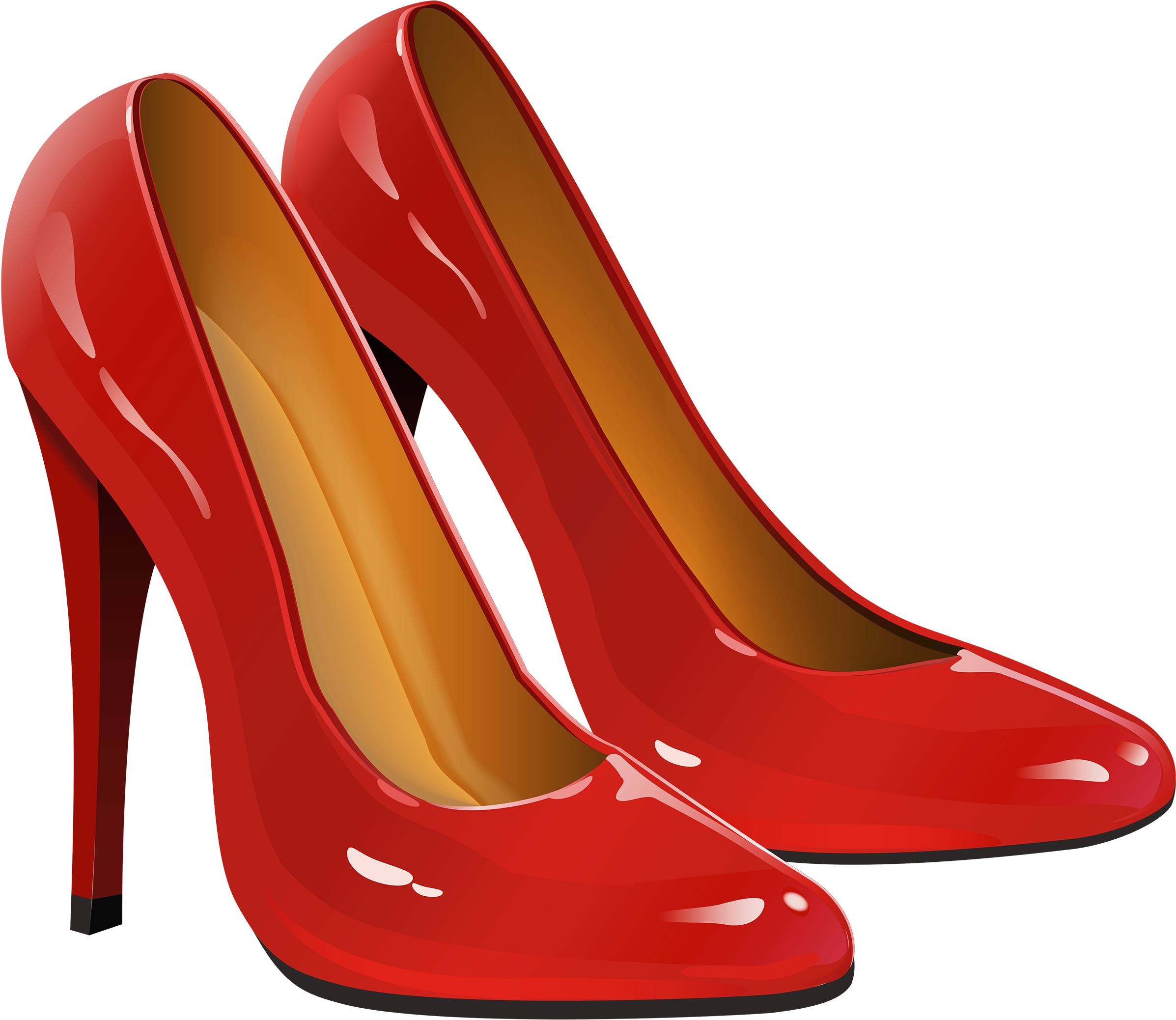 HD Red Women Shoes Png Transparent Image.