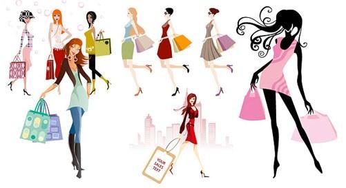 Women shopping clipart 3 » Clipart Portal.