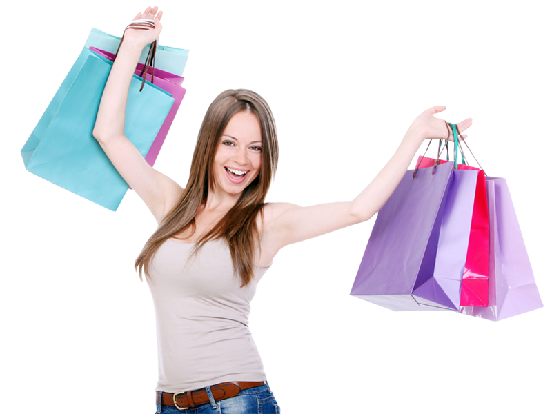 Girl With Shopping Bags PNG Transparent Girl With Shopping.