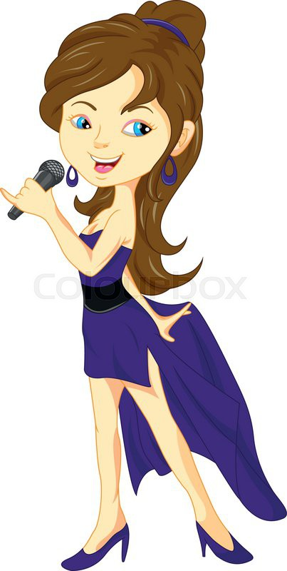 Female Singer Clipart.