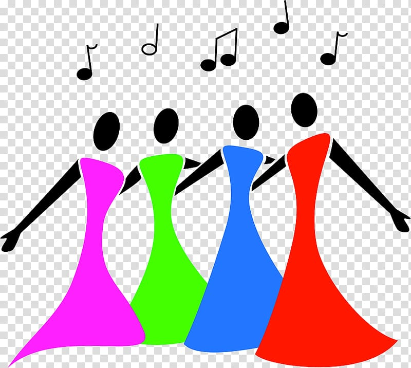 Singing Choir Female , Sing Group transparent background PNG.