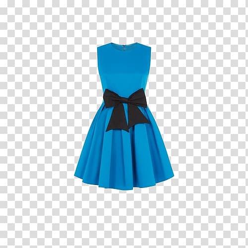 Women\'s blue sleeveless dress, T.