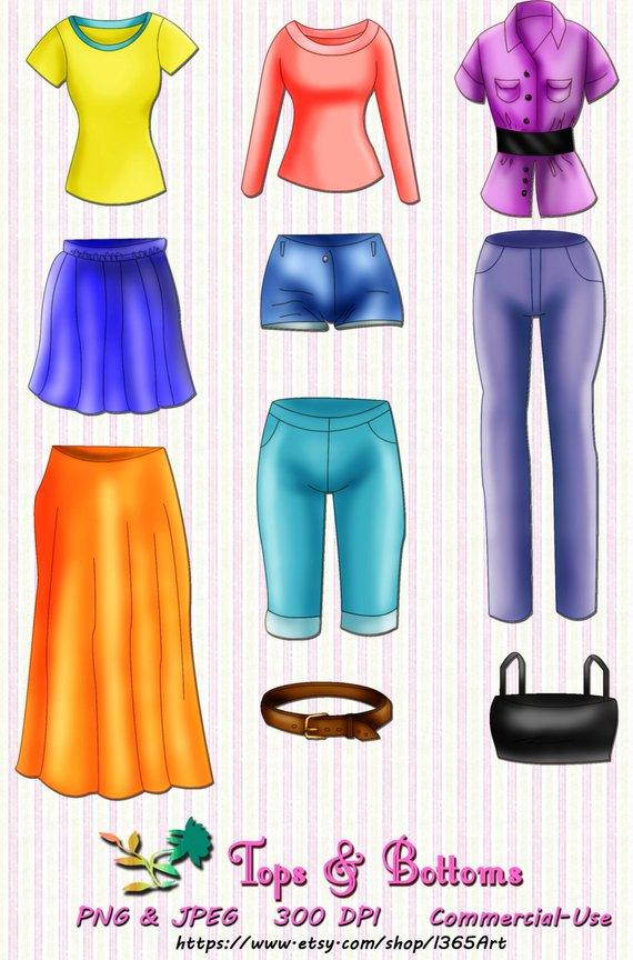 Clothes clipart, clothes clip art, Shirt, Pants, jeans.