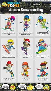 Women Snowboarding Collection.