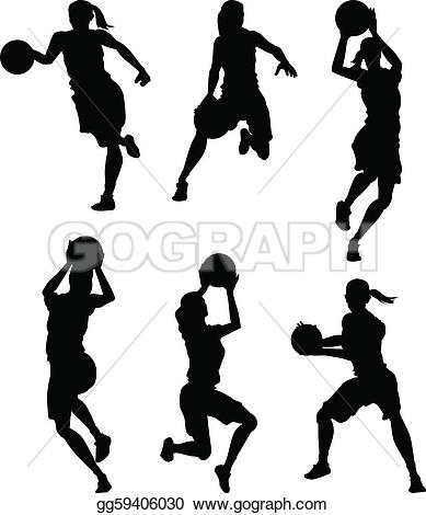 Girls Basketball Clip Art.