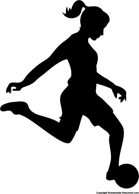 Female silhouette clipart sports.