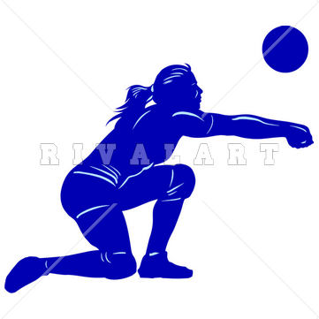 Sports Clipart Image of Volleyball Player Girls Woman Womens.