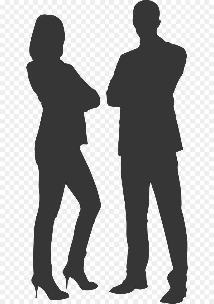 Free Silhouette Of A Man And Woman Standing Together.