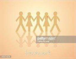 Working Together Men + Women = Teamwork stock vectors.