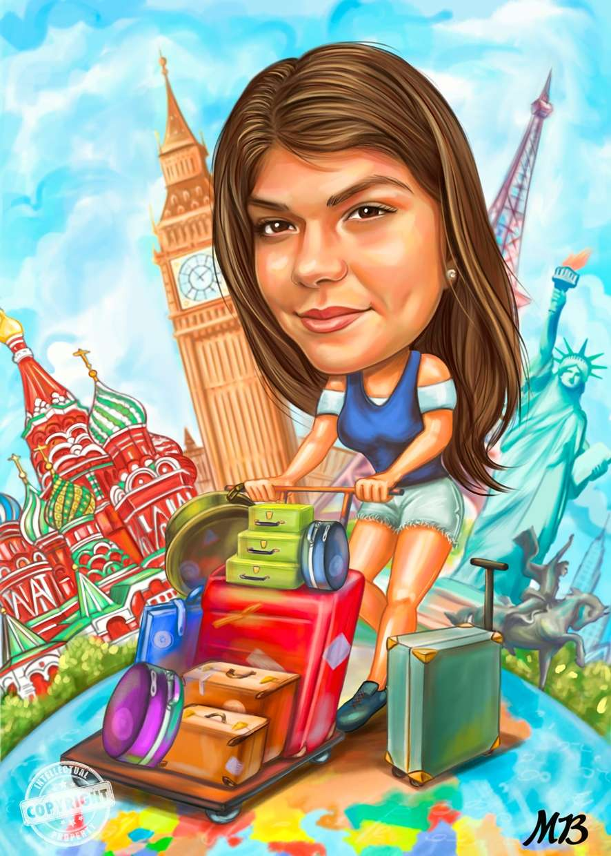 Travel / Vacation Caricature.