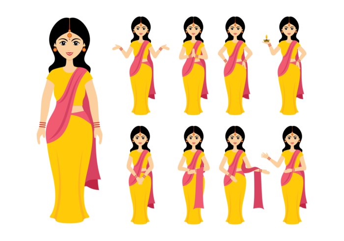 Indian Women Vector.