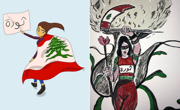 Lebanese women dominated the streets. Government, next?.