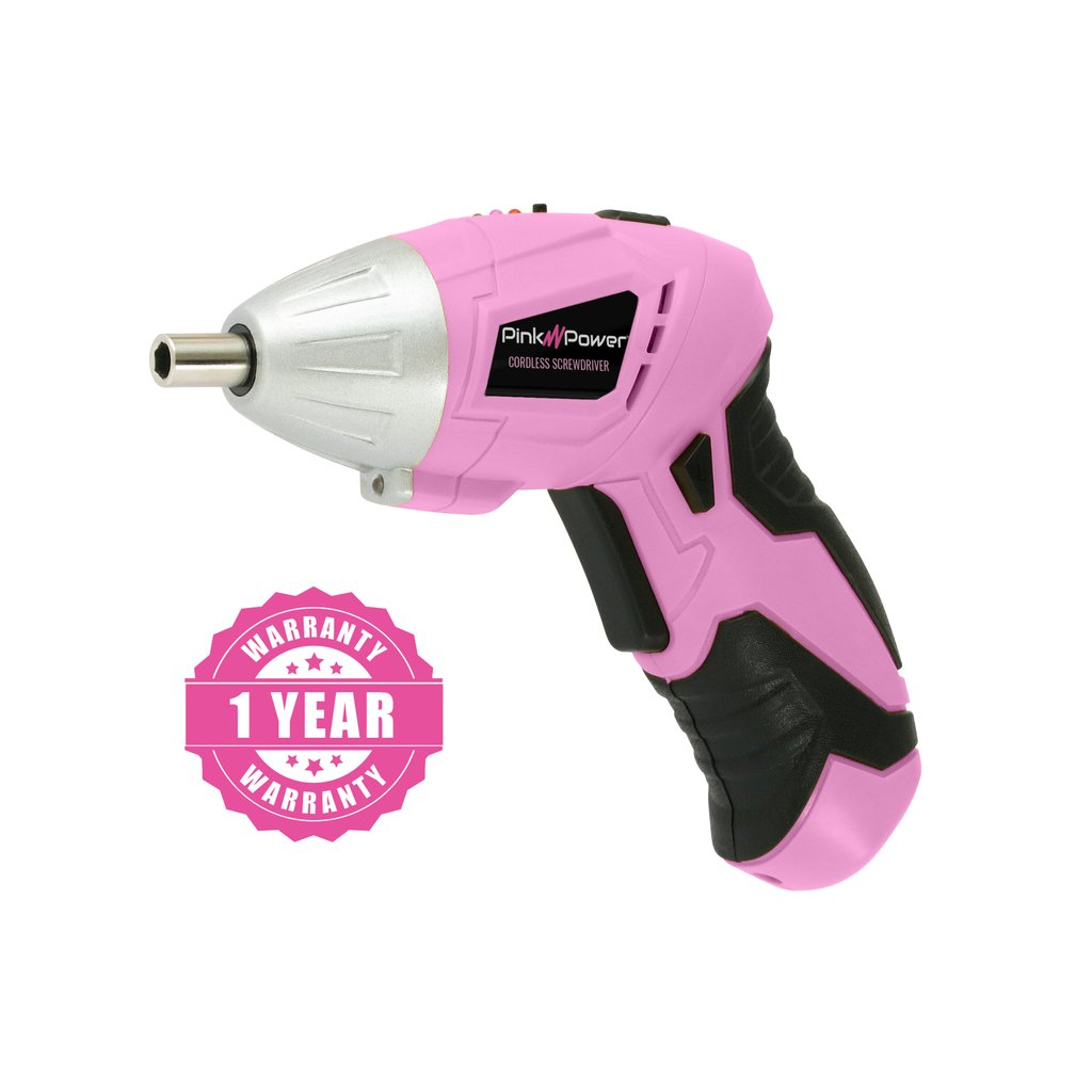 Pink Power PP481 3.6 Volt Cordless Electric Screwdriver Kit.