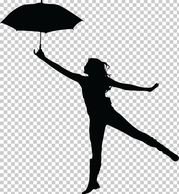 Silhouette Umbrella Woman PNG, Clipart, Animals, Black.
