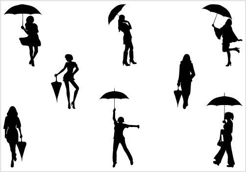 Free Umbrella Silhouette Clip Art, Download Free Clip Art.