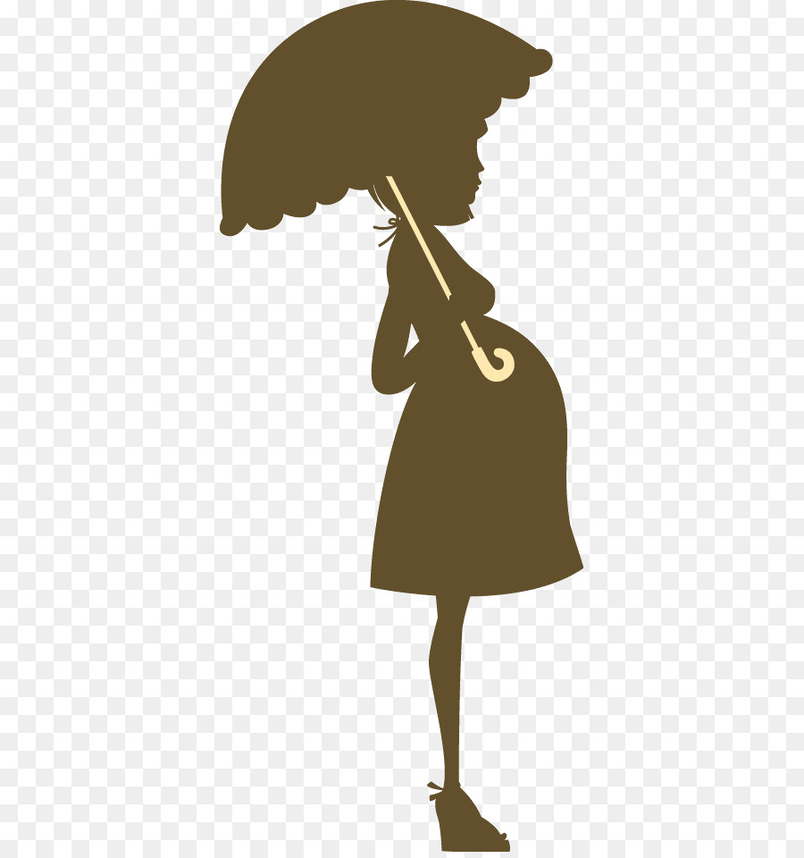 Free Pregnant Woman Silhouette With Umbrella, Download Free.