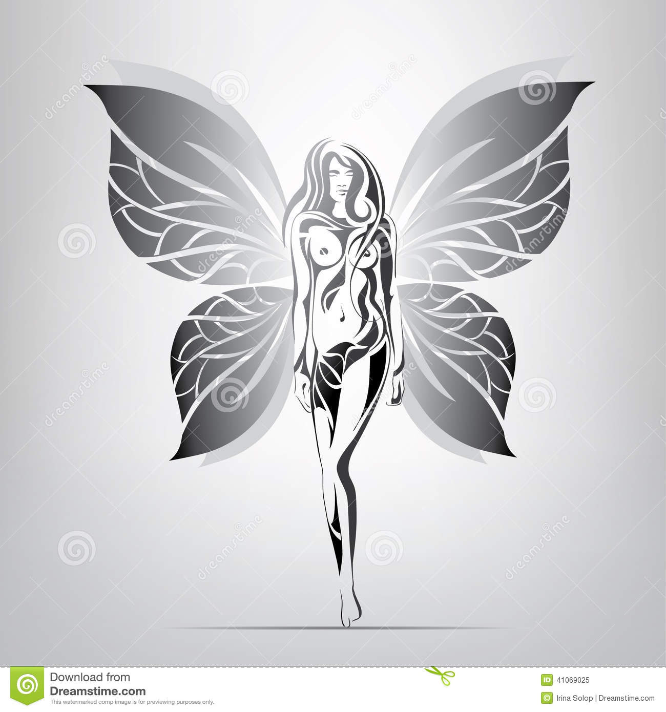 Girl With Wings Clipart.