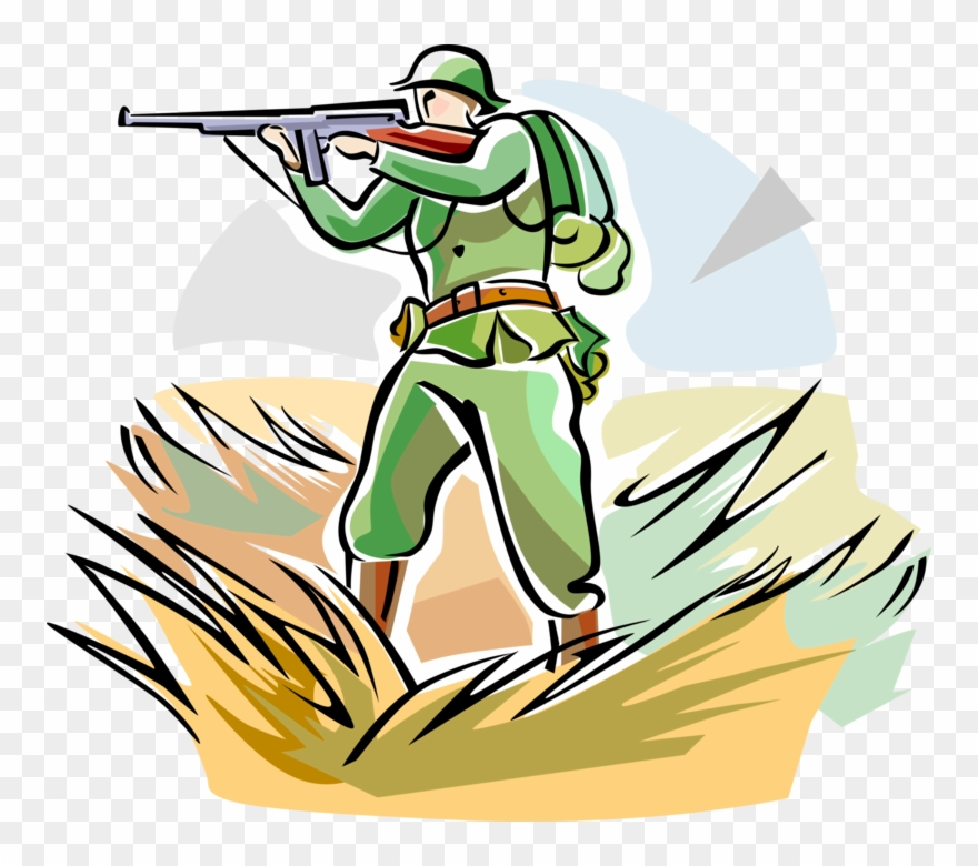 Vector Illustration Of World War One Wwi Soldier With.