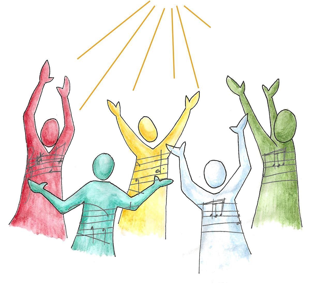 Women Praising God Clip Art.