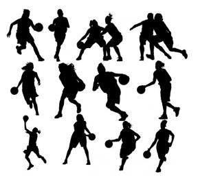 Womens Basketball Clipart.