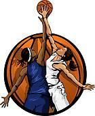 Girls Basketball Clip Art.