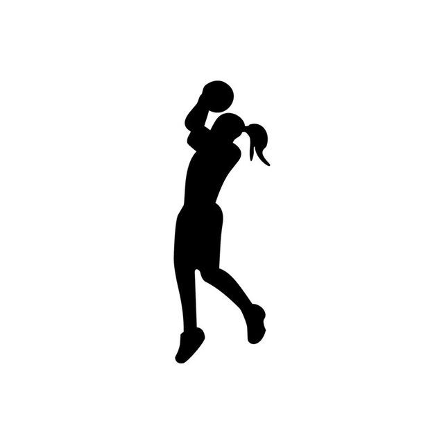 Women\'s Basketball Silhouette.