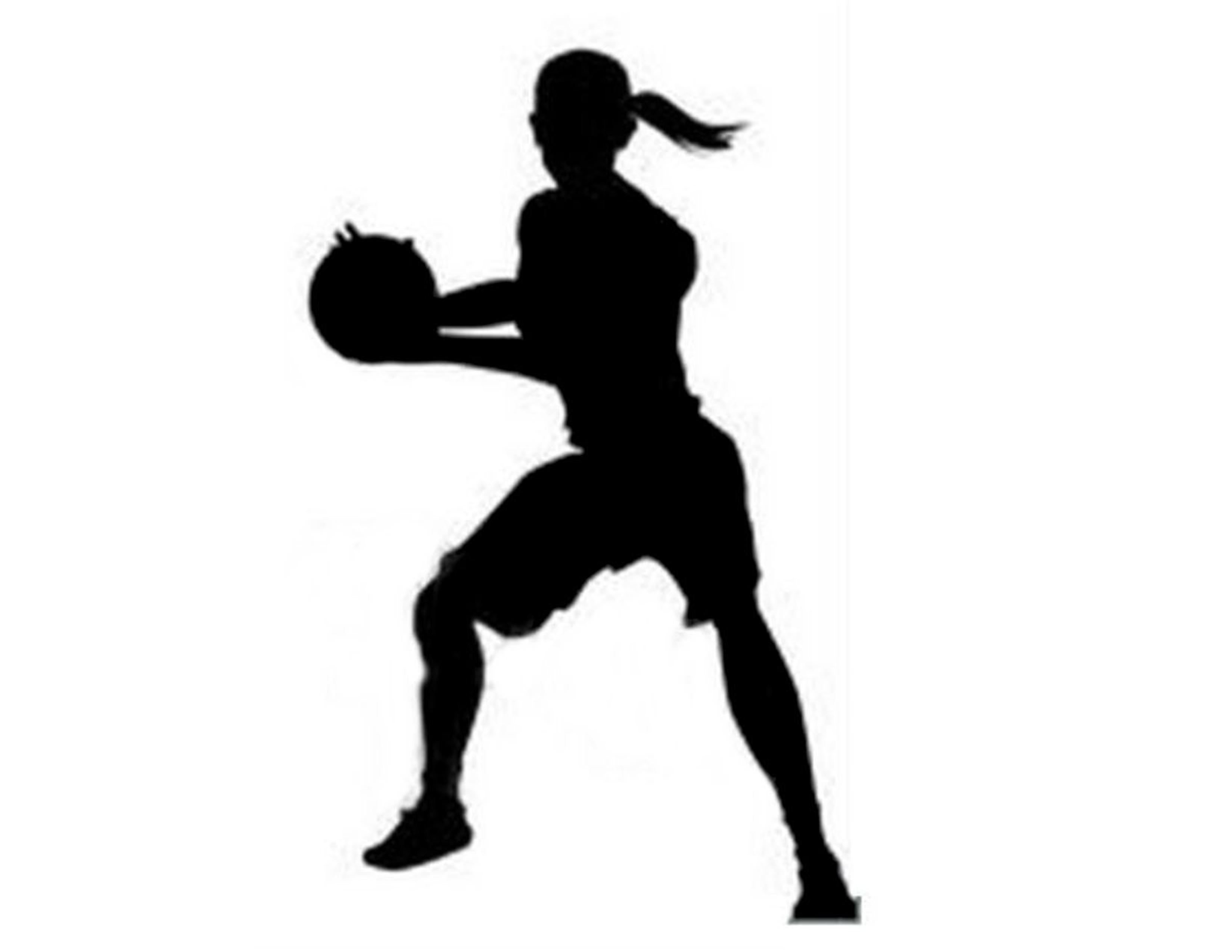 Girl Basketball Player Silhouette.