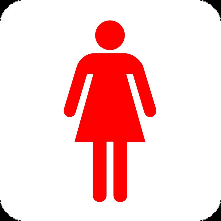 Restroom Bathroom Sign.